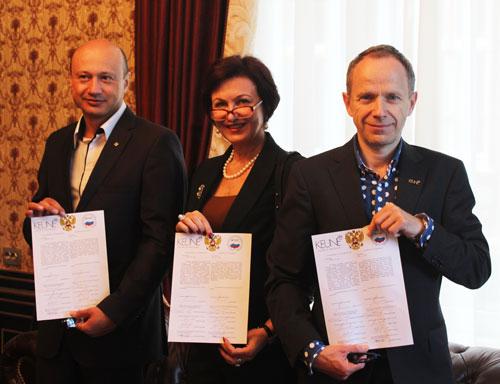 Торжественное подписание соглашения об открытии Международной школы Keune Design