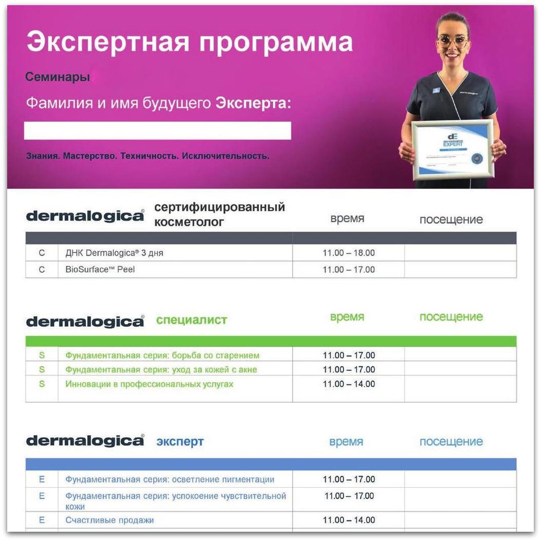Экспертная программа Dermalogica