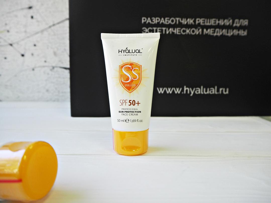 Линия профессиональных средств для защиты кожи от фотостарения Hyalual Safe Sun