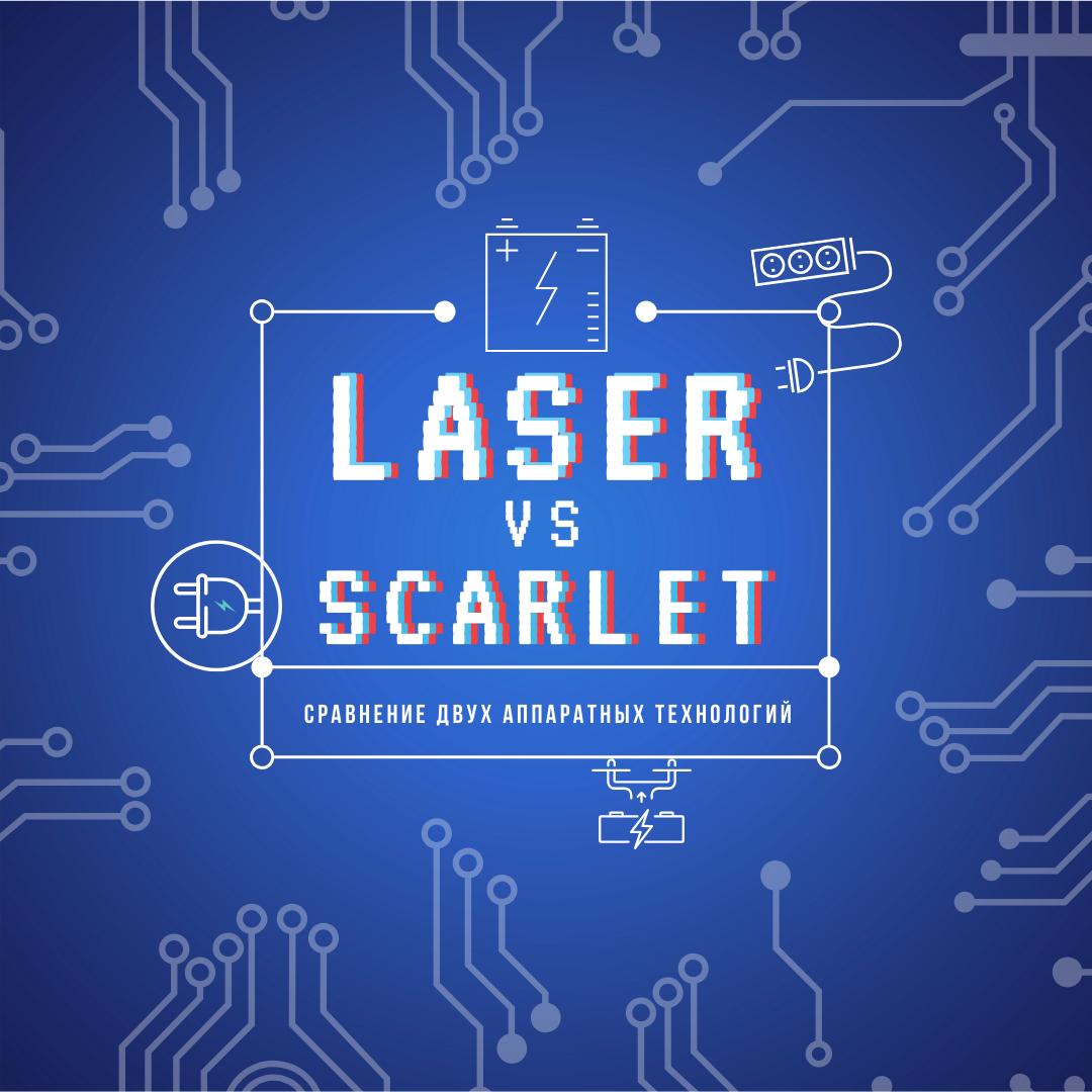 Давайте сравним: СО2-лазер vs Scarlet RF