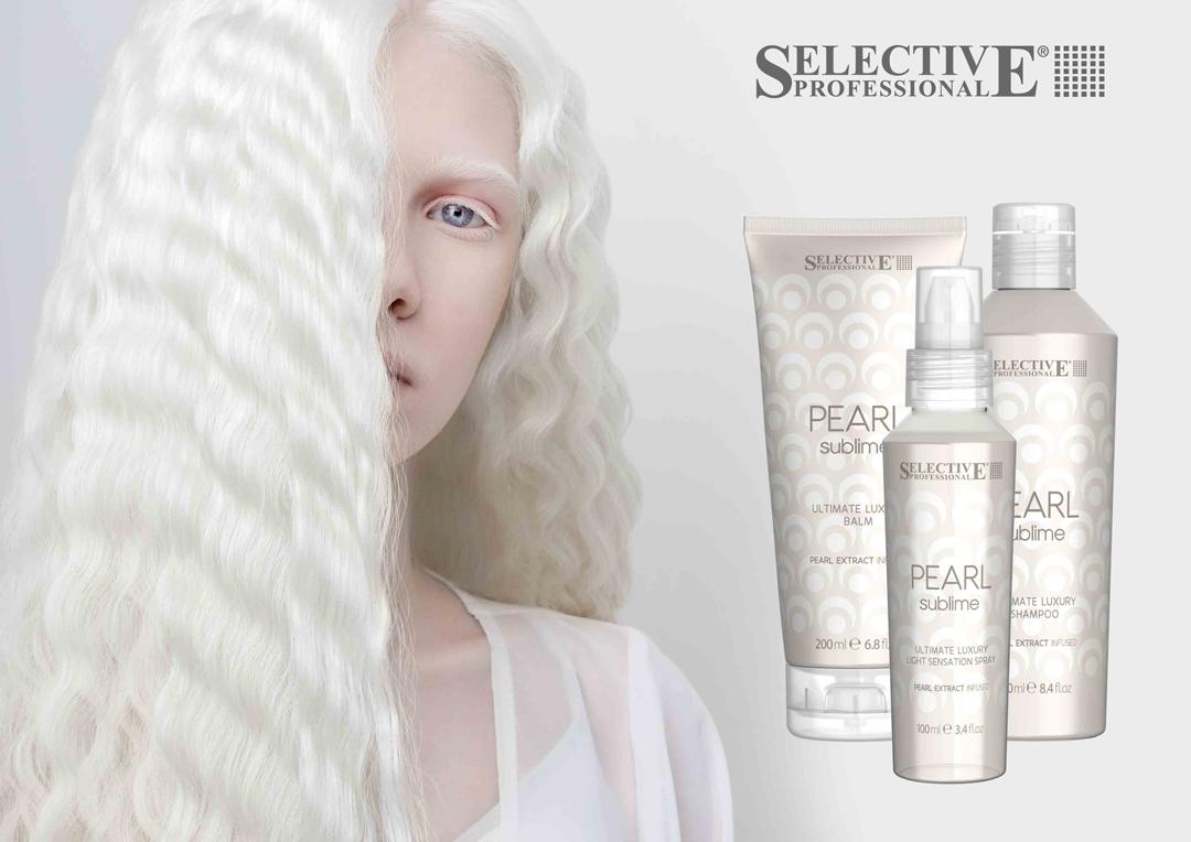Pearl Sublime профессиональный уход для волос с экстрактом жемчуга от Selective Professional