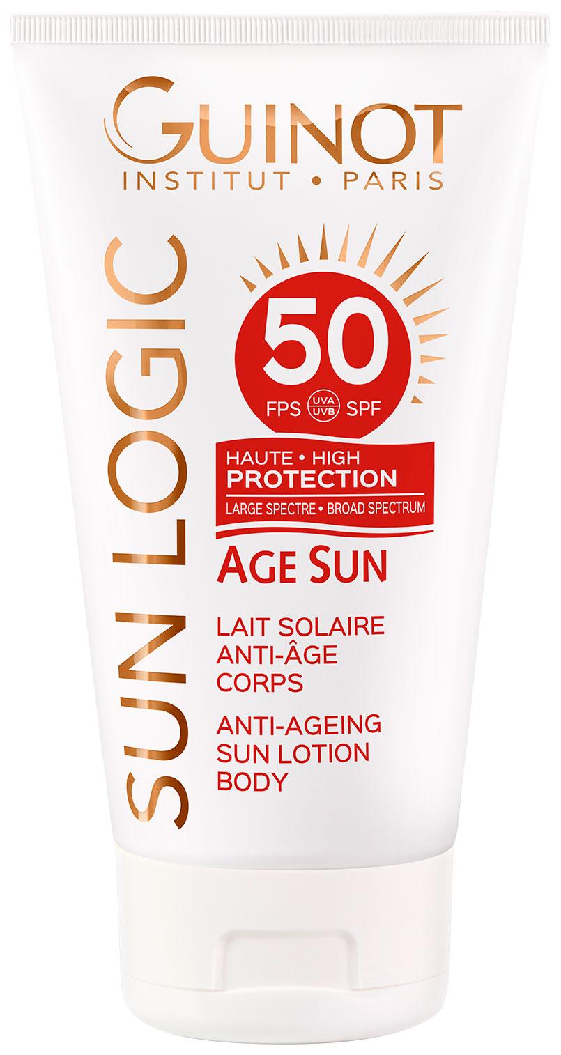 Антивозрастное солнцезащитное молочко для тела с высокой степенью защиты SPF 50